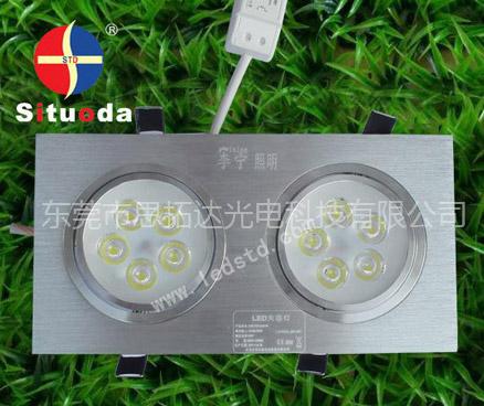 STD-TH-10W-C-05 LED银色双头天花灯