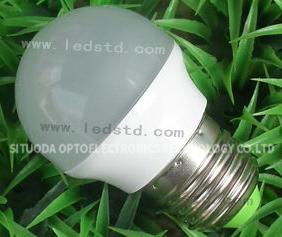 LED Aluminum Plastic Bulb STD-QPLS-3W-C-06